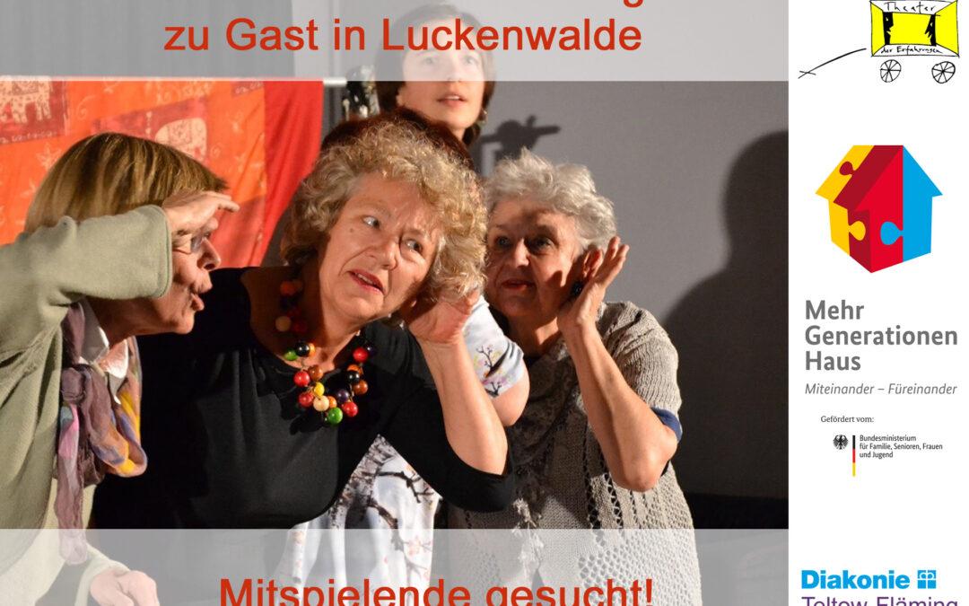 Mitspielende gesucht: Theater der Erfahrungen zu Gast in Luckenwalde